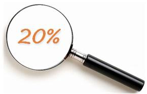 Focus on 20%