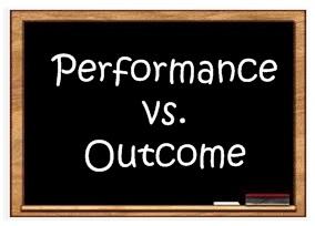 Performance vs. Outcome title