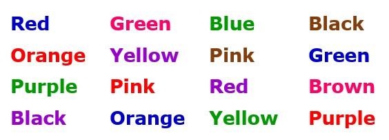 Perception color chart